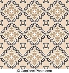 Portuguese tiles, Quatrefoil vector pattern