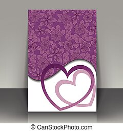 postcard with hearts
