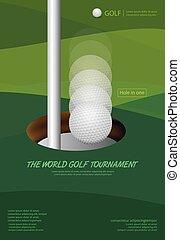 Poster Golf Tournament Championship Vector Illustration