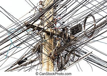 Power pole tangle