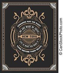 Premium card. Baroque frame and floral details.