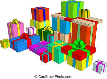 Clip-art element: present boxes