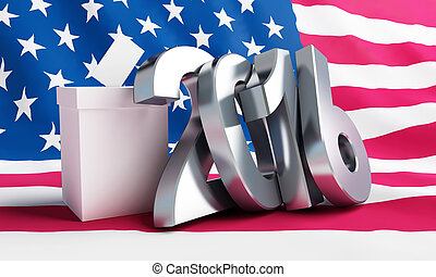 presidential election USA in 2016 white background