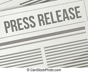 press release closeup illustration design graphic newspaper