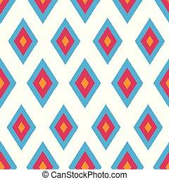 Pretty Ikat seamless pattern background.