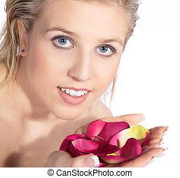 pretty woman at spa