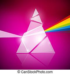 Prism Spectrum Illustration on Pink Background
