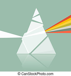 Prism Spectrum Illustration on Retro Background