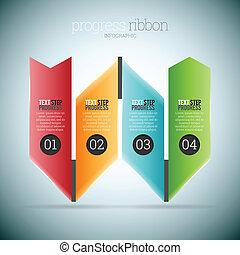 Progress Ribbon Infographic
