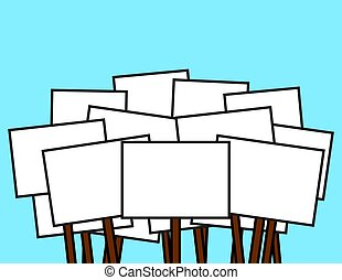 Protest Signs Blank