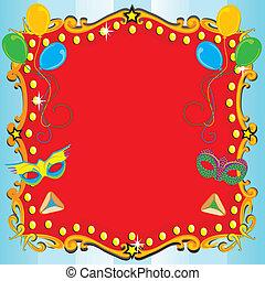 Purim Carnival Party Invitation Pos