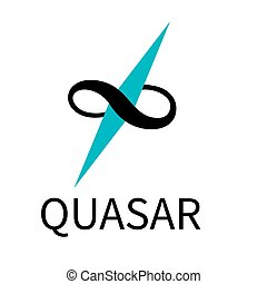 quasar icon vector on white background, trendy filled icons from Astronomy collection