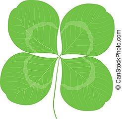 Quatrefoil leaf clover sign icon. Good Luck Sign, Saint patrick day symbol. Ecology image concept. Luck icon. Green color clover sign. Leaf clover icon. Clover color icon. Good Luck icon.