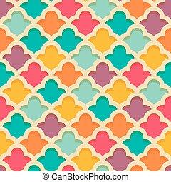 Quatrefoil seamless pattern