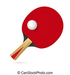 Racket for playing table tennis. Illustration on white background