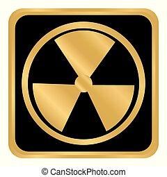 Radiation round button.