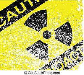 Radioactive Grunge Sign