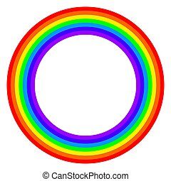 Rainbow circle spectrum colored