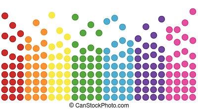 Raonbow Colorful Polkadots