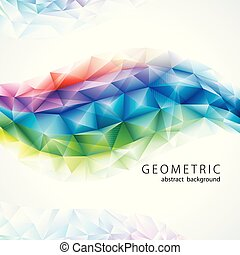 Rainbow Colors Geometric Abstract Background.