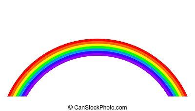Rainbow illustration on white background