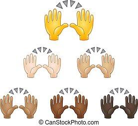 Raising hands emoji