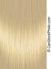 Realistic golden blond straight hair texture background