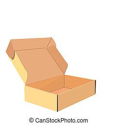 Realistic illustration of box - vector
