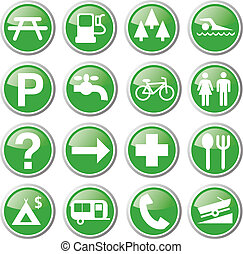 recreation green icons