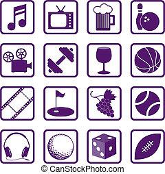 Recreation Icons and Symbols