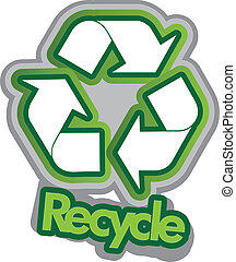 Vector illustration of the recycle sign