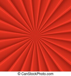 Red abstract rays circle vector background