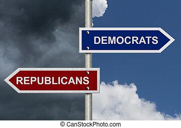 Republicans versus Democrats