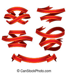 red banners set (vector)
