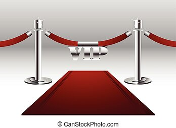 Red Carpet with VIP Sign