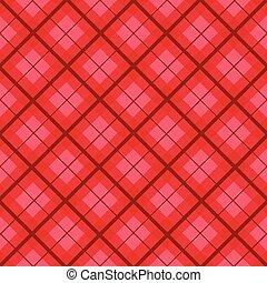 Red Christmas Tartan Vintage Background
