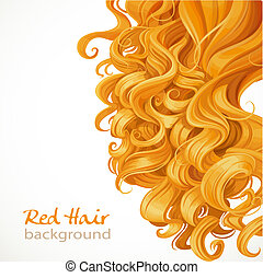 Red hair background