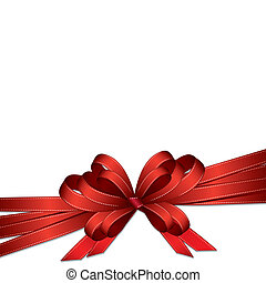 red ribbon and bow background