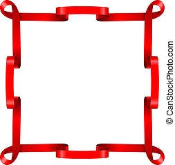Red ribbon frame