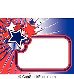 Red white blue stars banner