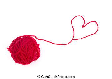 Red wool heart