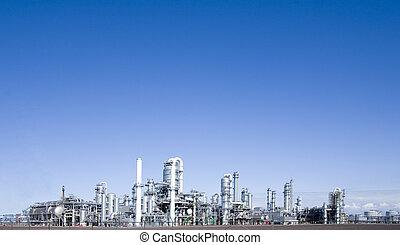 Refinery at Europoort, Rotterdam, Holland