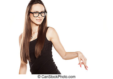 woman with reject gesture