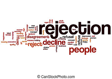 Rejection word cloud concept with decline reject related tags