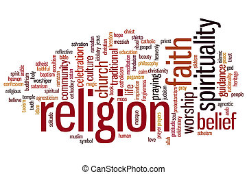 Religion concept word cloud background