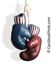 Republicans and Democrats in the campaign