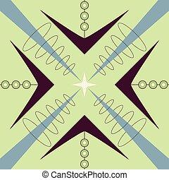 Retro Atomic 1950s Mid Century Vintage Seamless Background Pattern