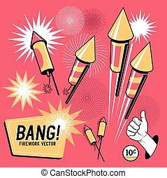 Retro Firework Rockets