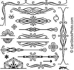 isolated retro decorative elements