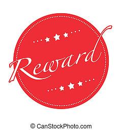 reward grunge stamp with on vector illustration